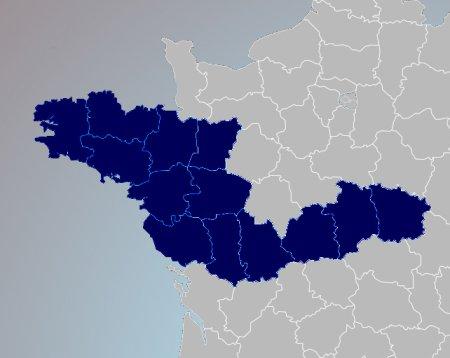 Couverture départementale CRIDON Ouest